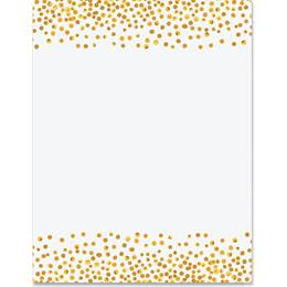 Yellow Gold Dots Border Papers