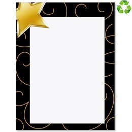 Bronze Star Border Papers