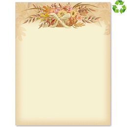 Autumn Flowers Border Papers