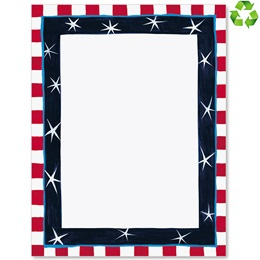 Patriotic Colors Border Papers