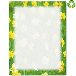 Spring Daffodils Border Papers