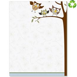Fall Owls Border Papers
