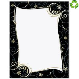 Spectacular In Black Border Papers