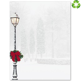 Peaceful Snowfall Border Papers