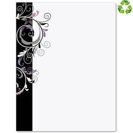Black and Grey Fantasy Border Papers