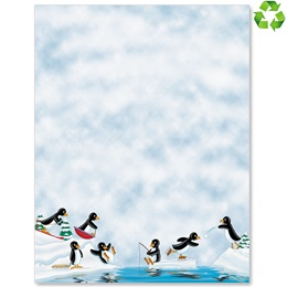 Playful Penguins Border Papers