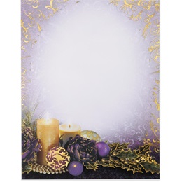 Purple Glow Specialty Border Papers