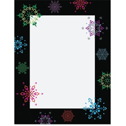 Festive Snowflakes Specialty Border Papers