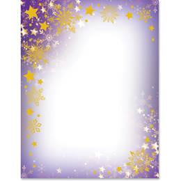 Snowy Stars Specialty Border Papers