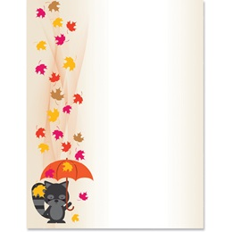 Fall Showers Specialty Border Papers