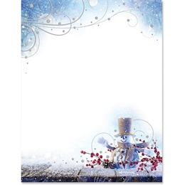 Snowy Hello Specialty Border Paper