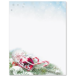 Red Ornament Specialty Border Papers