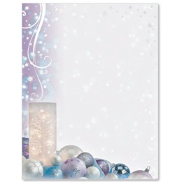 Frosted Votive Specialty Border Papers