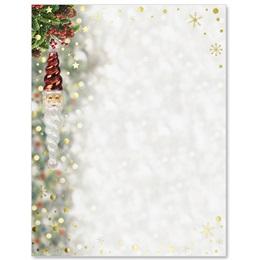 Santa Ornament Specialty Border Papers