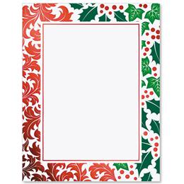 Jolly Holly Specialty Border Papers