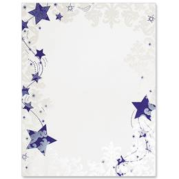 Frosted Stars Specialty Border Papers