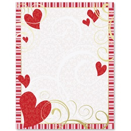 Sweet Romance Specialty Border Papers