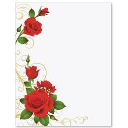 Romance and Roses Specialty Border Papers