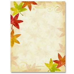 Autumn's Fancy Specialty Border Papers