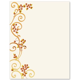 Autumn Scroll Specialty Border Papers