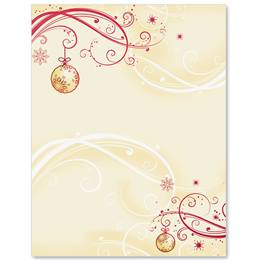 Cranberry Lace Specialty Border Papers