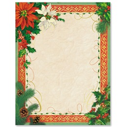 Natural Christmas Specialty Border Papers