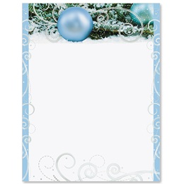 Shimmering Frost Specialty Border Papers