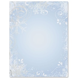 Frosty Blue Specialty Border Papers