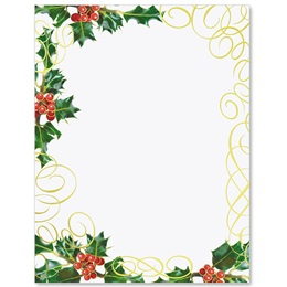 Holly Swirls Specialty Border Papers