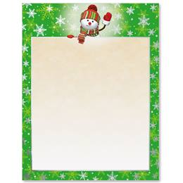 Welcome Snowman Specialty Border Papers