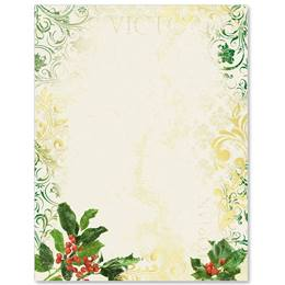 Victorian Holly Specialty Border Papers