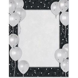 Silver Balloons Specialty Border Papers
