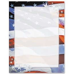 Patriotic Stars Specialty Border Papers