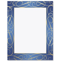 Blue Elegance Specialty Border Papers