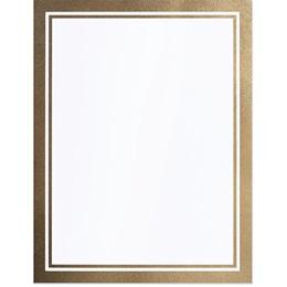 Gold Linen Border Specialty Border Paper