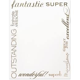 Words Specialty Border Paper