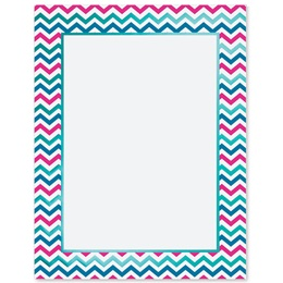Spring Chevron Specialty Border Papers