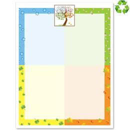A Tree In Season Border Papers