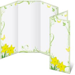 Daffodil Delight 3-Panel Brochures