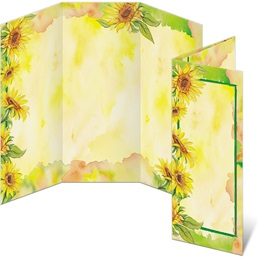 Sunflower Garden 3-Panel Brochures