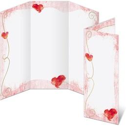 Adorable Hearts 3-Panel Brochures
