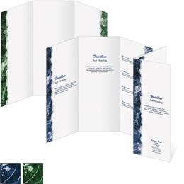 Blue Carrara 3 Panel Brochures