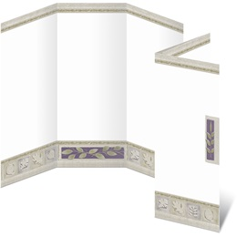 Earthtone Tiles 3 Panel Brochures