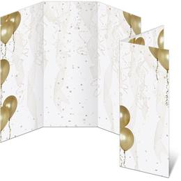 Gold Balloons 3-Panel Brochures