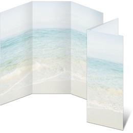 Seashore Scene 3-Panel Brochures