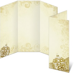 Golden Filigree 3-Panel Brochures