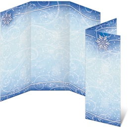 Winter Snow 3-Panel Brochures