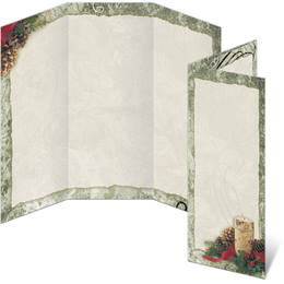 Rustic Christmas 3-Panel Brochures