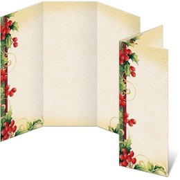 Holly Berry Swirls 3-Panel Brochures