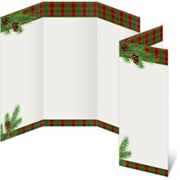 Traditional Plaid 3-Panel Brochures